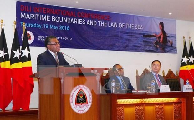 东帝汶举行海上分界线和海洋法的国际会议 hinh anh 1
