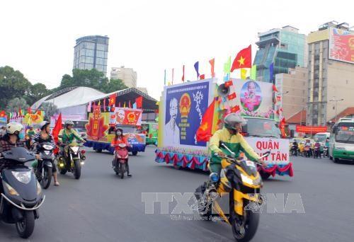 选举日临近:胡志明市对劳动工人加大选举意义宣传力度 hinh anh 1