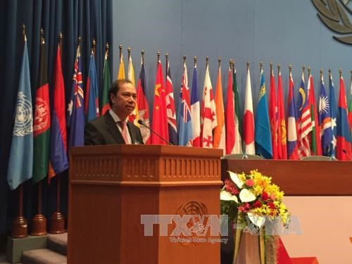 越南代表团出席联合国亚太经社会第72届年会 hinh anh 1