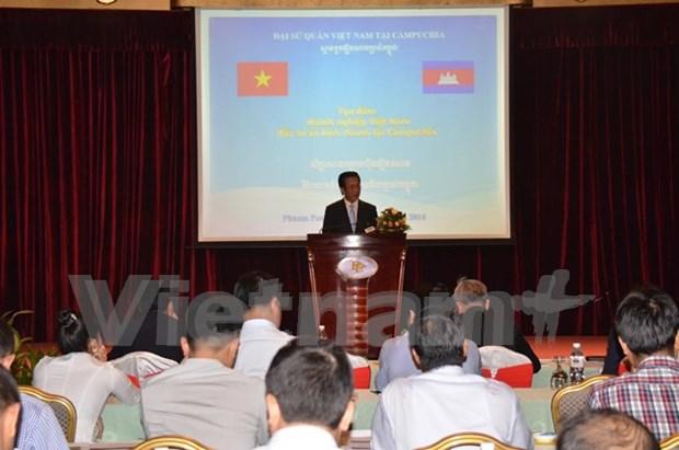 越南驻柬埔寨大使:越柬经济合作仍有巨大的余地和潜力 hinh anh 1