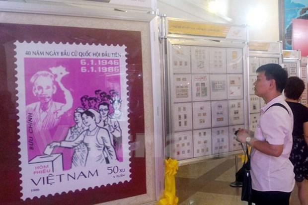 国会代表选举珍贵邮票展开幕 hinh anh 1