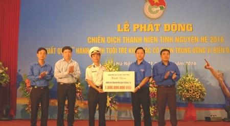 中央直属机关共青团启动2016年夏季青年志愿者服务活动 hinh anh 1