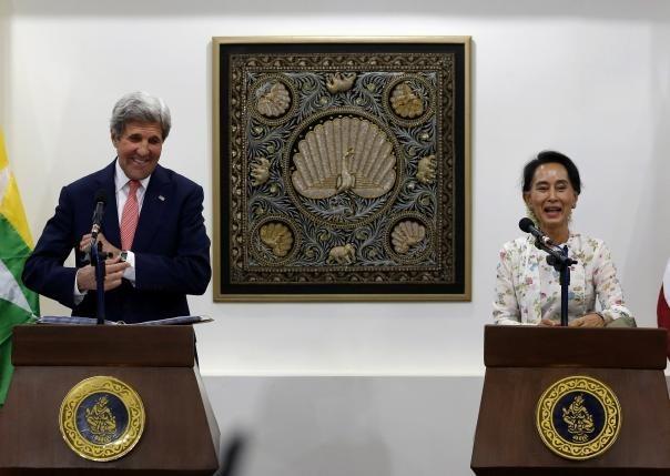 美国国务卿约翰·克里访问缅甸 hinh anh 1