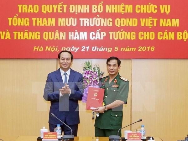 越南人民军队总参谋长任命书颁发仪式在河内举行 hinh anh 1