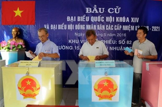 越南国会与各级人民议会代表选举日:充满责任与信心的重大节日 hinh anh 1