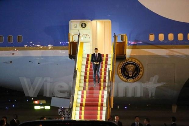 美国总统奥巴马开始对越南进行正式访问 hinh anh 1