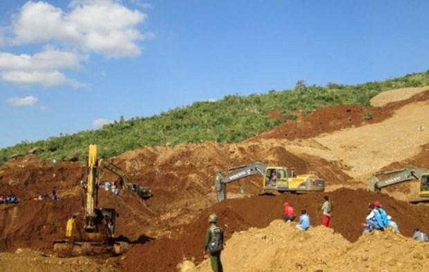 缅甸北部发生山体滑坡约有百人被埋 hinh anh 1