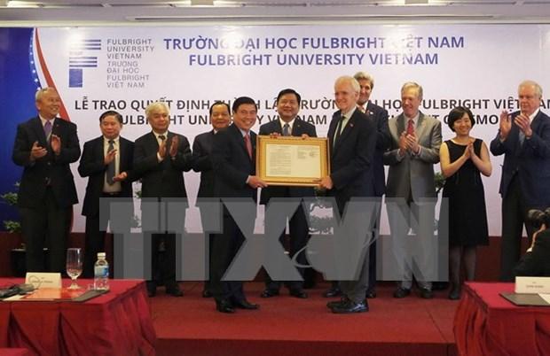 越南富布赖特大学正式揭牌成立 hinh anh 1