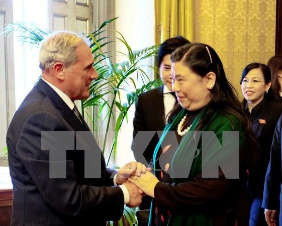 越南国会副主席对意大利进行工作访问 hinh anh 1