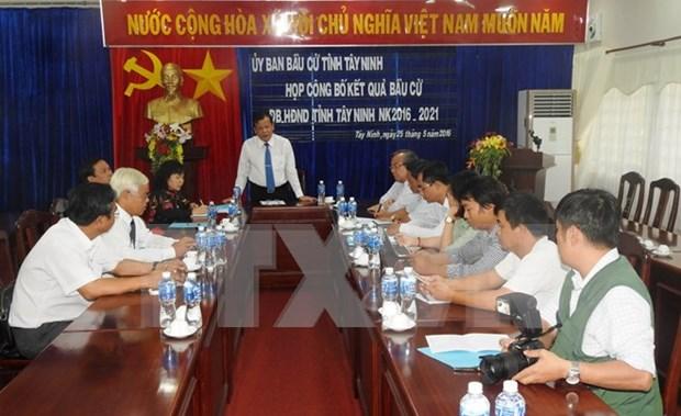 越南各地陆续公布新一届国会和地方各级议会代表换届选举投票结果 hinh anh 1