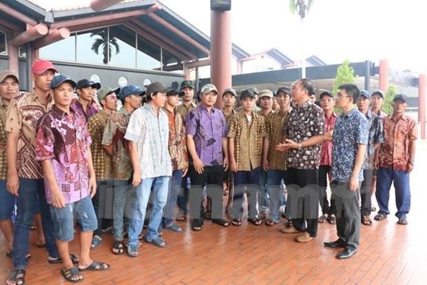 印尼同意释放被扣押越南渔民中的33余人 hinh anh 1
