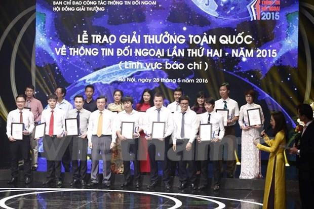 70个最佳作品获得2015年第二届越南全国对外新闻奖 hinh anh 1