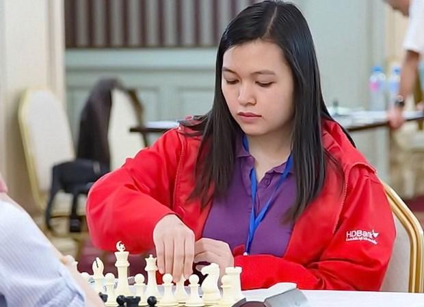 国象亚洲个人赛:越南棋手阮氏枚兴排名第二 hinh anh 1
