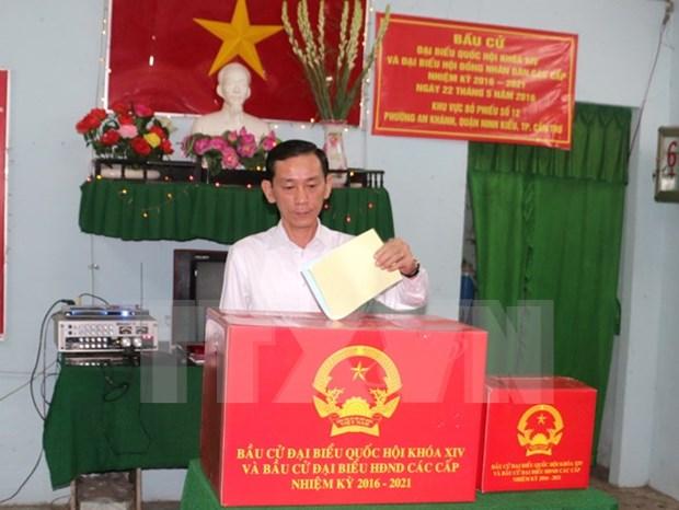 芹苴市等越南各地进行新一届国会和各级人民议会代表补选 hinh anh 1