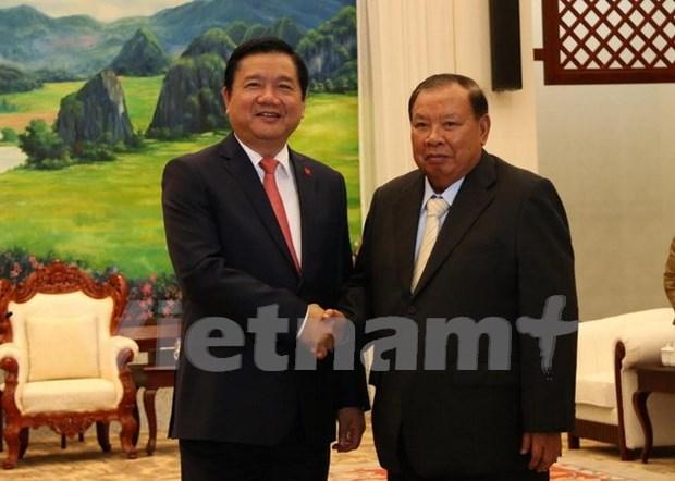 老挝领导人对胡志明市与老挝各地合作效果予以高度评价 hinh anh 1