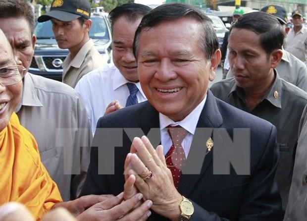 柬埔寨国会批准对反对党救国党副主席根索卡进行法律责任追究 hinh anh 1