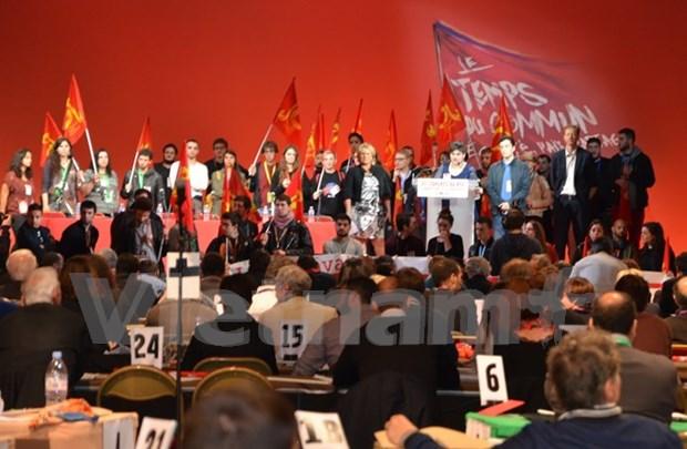 越共代表团出席法国共产党第37次全国代表大会 hinh anh 1