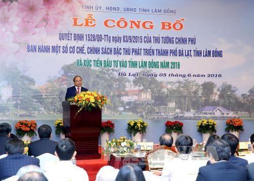 阮春福总理:旅游与高科技农业是林同省优先投资的领域 hinh anh 1