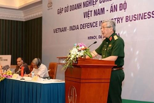 越印国防工业企业见面交流会在河内举行 hinh anh 1