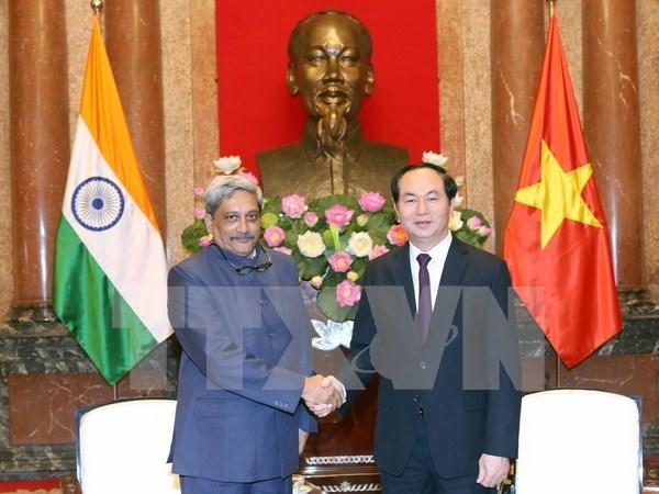 越南国家主席陈大光分别会见法国和印度国防部长 hinh anh 2