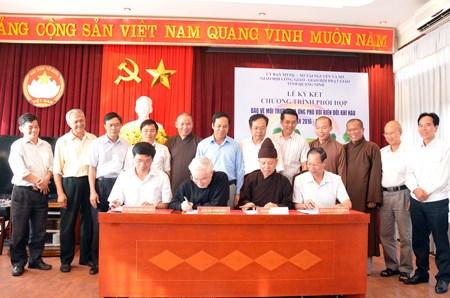 越南广宁省宗教组织积极参与环保和应对气候变化工作 hinh anh 1