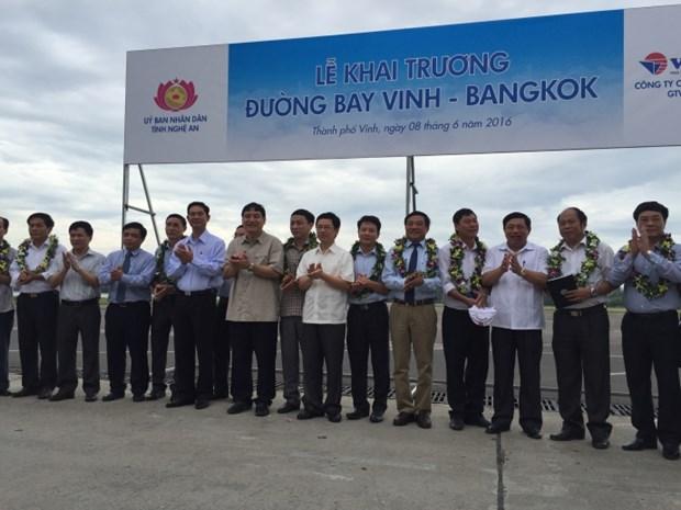 越南荣市至曼谷(泰国)国际航线正式开通 hinh anh 1
