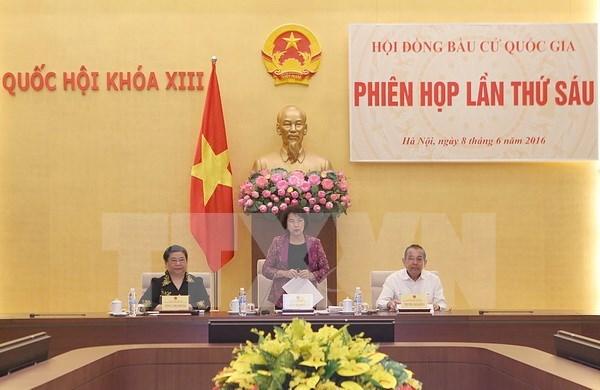 越南国家选举委员会第六次会议在河内召开 hinh anh 1