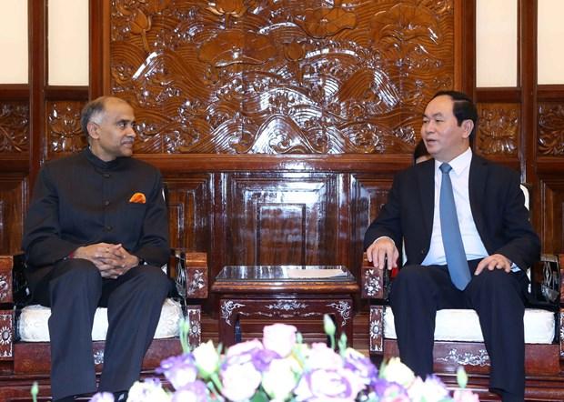 越南国家主席陈大光会见前来递交国书的各国新任驻越大使 hinh anh 2