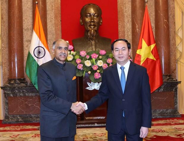 越南国家主席陈大光会见前来递交国书的各国新任驻越大使 hinh anh 1