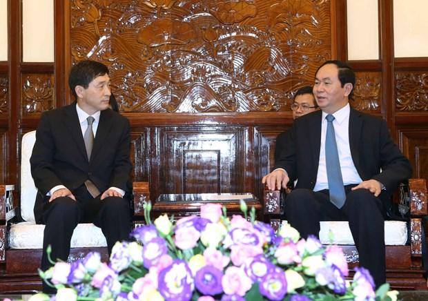 越南国家主席陈大光会见前来递交国书的各国新任驻越大使 hinh anh 3
