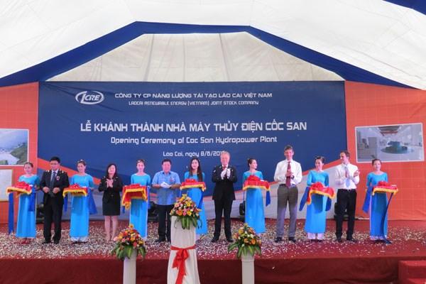 越南北部使用外资建设的首家水电站竣工 hinh anh 1