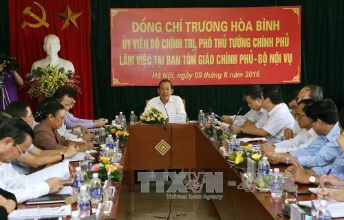 各宗教团体在把党和国家主张政策和法律渗透到日常生活中起着重要作用 hinh anh 1