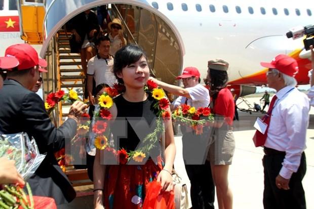 越捷航空公司开通河内市与胡志明市往返富安省航线 hinh anh 1