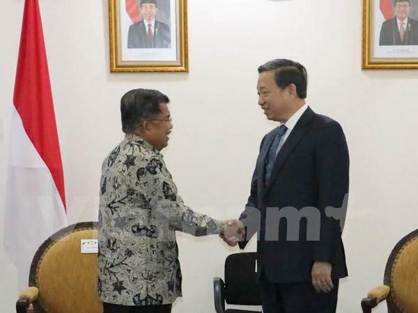 越南公安部长苏林对印度尼西亚进行工作访问 hinh anh 1