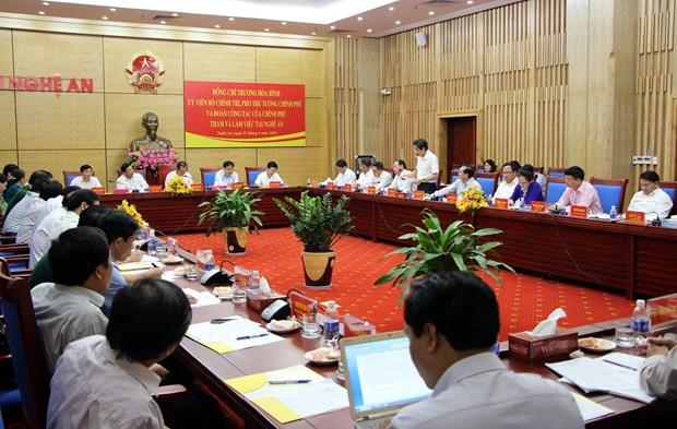 越南政府副总理张和平赴宜安省调研指导工作 hinh anh 1