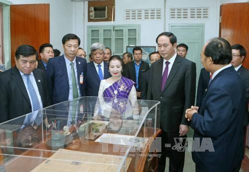越南国家主席陈大光访问老挝期间开展系列活动 hinh anh 1