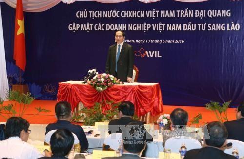 越南国家主席陈大光访问老挝期间开展系列活动 hinh anh 2