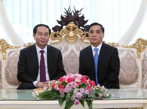 越南国家主席陈大光访问老挝期间开展系列活动 hinh anh 5