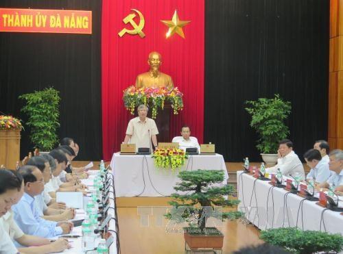 越共中央检查委员会主任陈国旺赴岘港市调研 hinh anh 1
