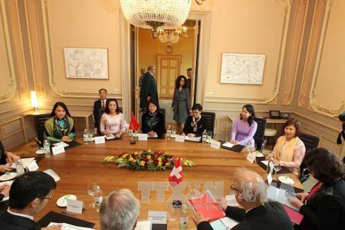 越南国家副主席邓氏玉盛对瑞士进行工作访问 hinh anh 2