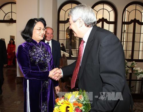 国家副主席邓氏玉盛会见捷克总统米洛什•泽曼及议会领导人 hinh anh 2
