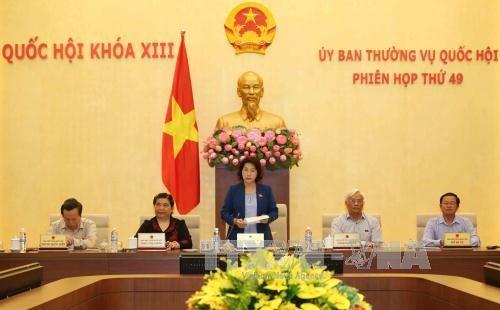 越南第十三届国会常委会第四十九次会议落下帷幕 hinh anh 1