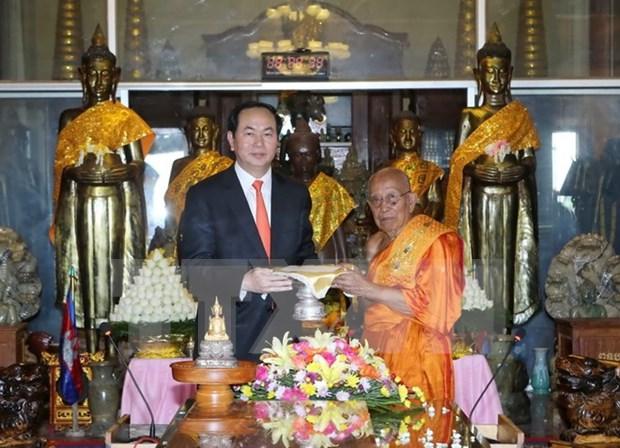 陈大光主席圆满结束对柬埔寨的国事访问 hinh anh 1