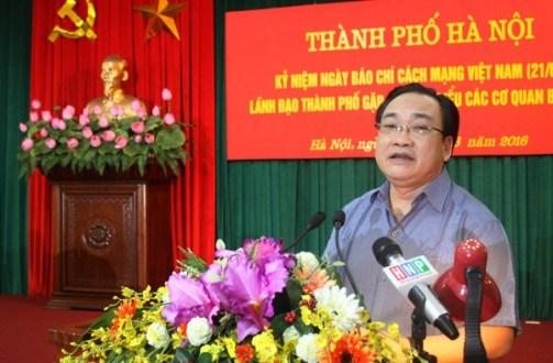 河内市市委书记黄忠海:新闻媒体为首都的发展作出重要贡献 hinh anh 1