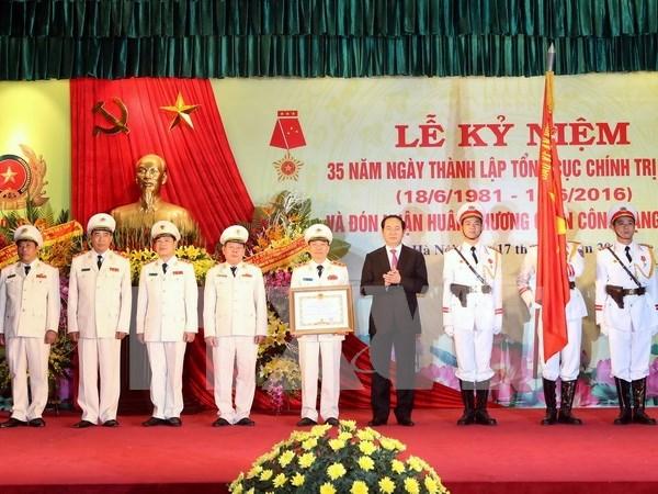 越南公安部政治总局成立35周年纪念典礼在河内举行 hinh anh 1