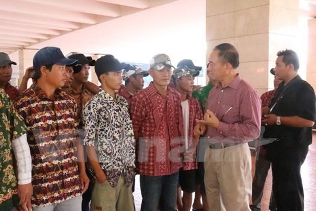 印尼释放28名被扣留的越南渔民 hinh anh 1