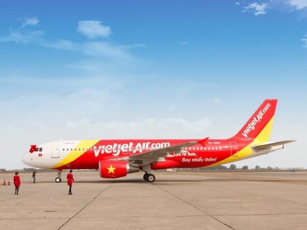 越捷航空公司将在2016年岘港国际旅游展出售3000张起价零越盾的机票 hinh anh 1