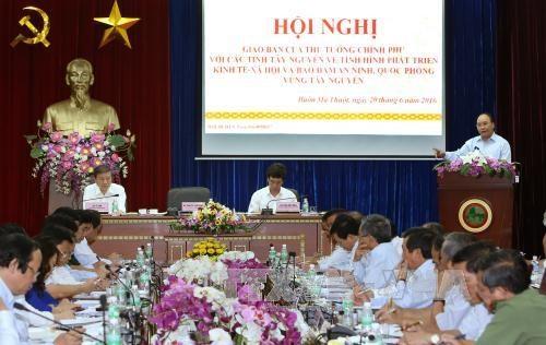 阮春福总理:继续发挥竞争优势 推动西原地区向前发展 hinh anh 1