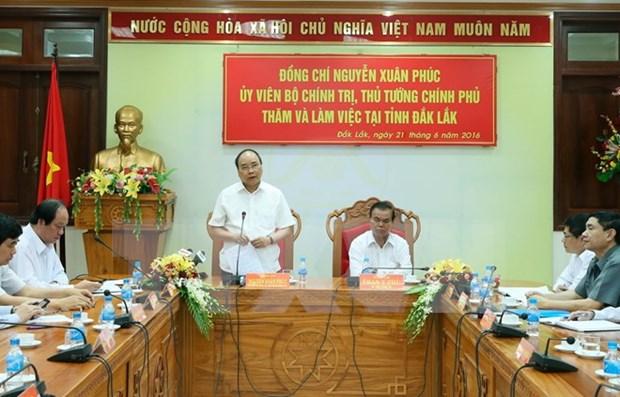 阮春福总理:得乐省需加大经济结构调整力度 hinh anh 1