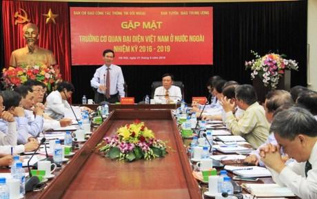 越南驻外代表机构在对外信息宣传工作中扮演非常重要的角色 hinh anh 1